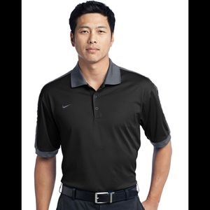 Nike Golf Dri-Fit Black/Gray Men's Polo Shirt XL